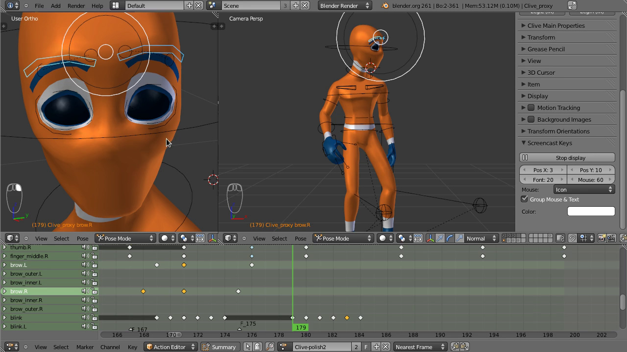 Blender animation software