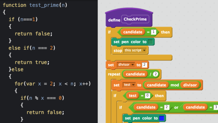 Text-based and block-based coding for kids